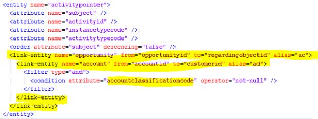 FetchXML - pieces need to modify crm chart xml