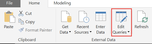 Edit Queries in Power BI