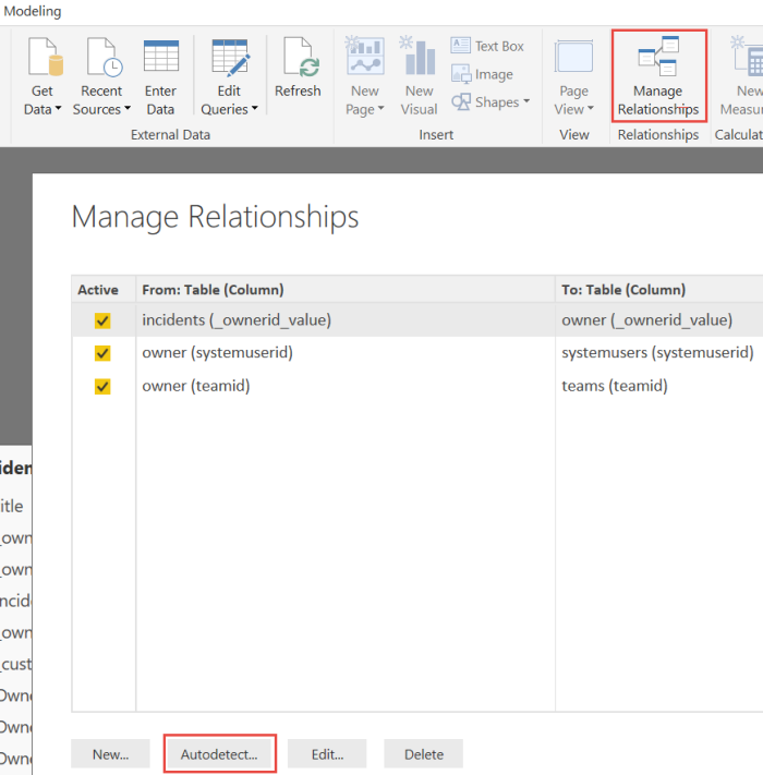 Power BI Manage Relationships and use Autodetect feature.