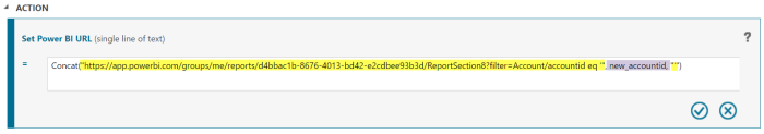 Formula for the URL to a record specific Power BI report from Dynamics 365