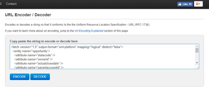 URL encode step 1