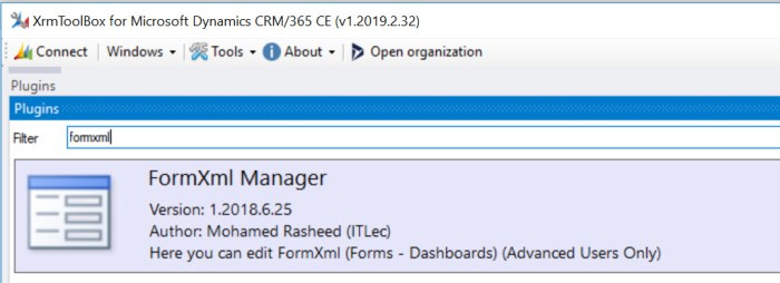 FormXml Manager XrmToolBox